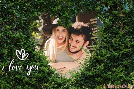 Heart Shaped Tree Love Photo Frame Free Download