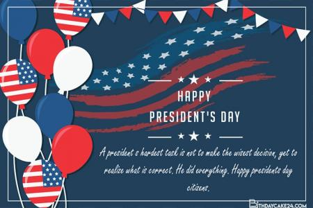 Free  Presidents' Day Greeting Cards Maker Online