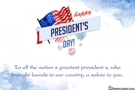 Personalize your own Printable & Online Presidents' Day Cards