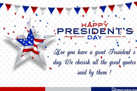 Design Custom Presidents' Day 2021 Greeting Card
