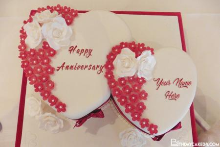 Wedding Anniversary Cakes With Name Editor