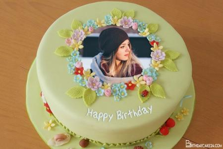 Creative Flower Birthday Cakes With Photo Frame