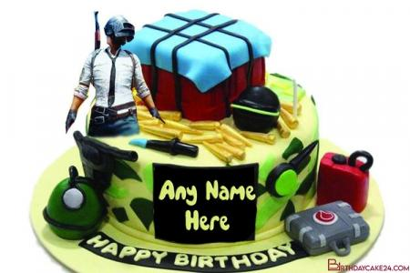 Customize Pubg Birthday Cake With Name Edit
