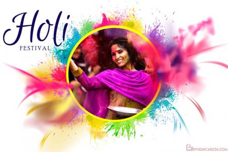 Holi Festival of Colors 2021 Photo Frame Editor