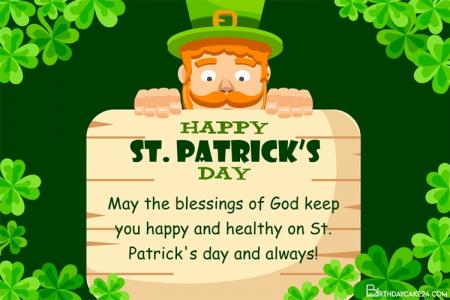 Create Your Own Custom St Patrick's Day Greeting Cards