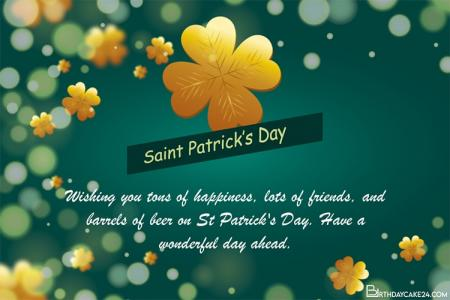 Gold Shamrock eCard - Create St. Patrick's Day Greeting Cards Online