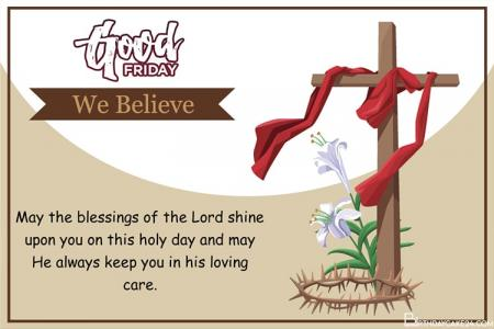 Happy Holy Week Greeting Cards Maker Online