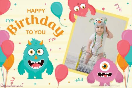Free Happy Birthday Photo Frame for Kid Online