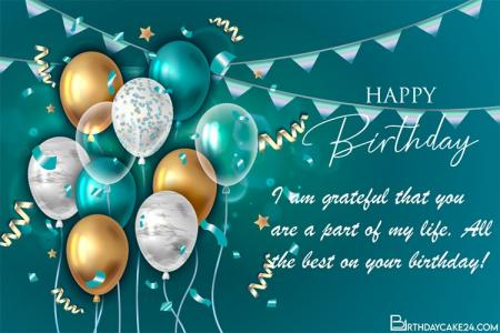 Customize Birthday Card With Name Wishes Online
