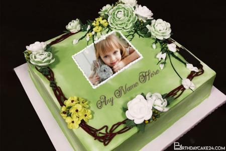 Best Green Cakes Images With Photo and Name Edit