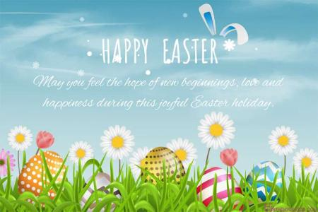 Happy Easter Cards With Colorful Easter Eggs Images