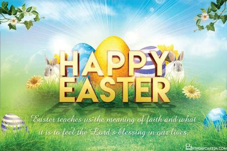 Personalize Your Own Easter Greeting Card Images