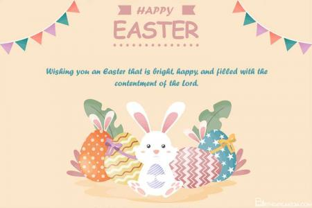 Happy Easter Day Greeting Cards With Bunny