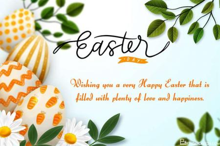 Realistic Happy Easter Greeting Cards Images
