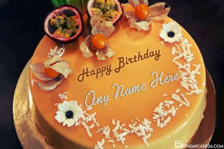 Create Fruit Birthday Cakes With Name Edit