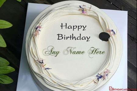 Amazing Ice Cream Cake For Birthday Wishes With Name