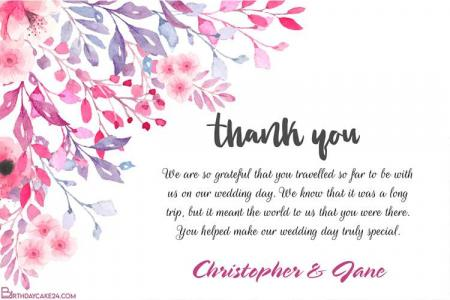 Lovely Floral Wedding Thank You Cards Images