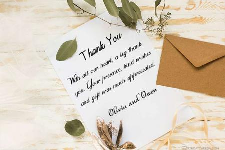 Personalized Your Own Wedding Thank You Cards