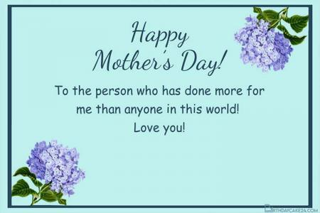 Mother's Day Personalised Cards With Flower Online