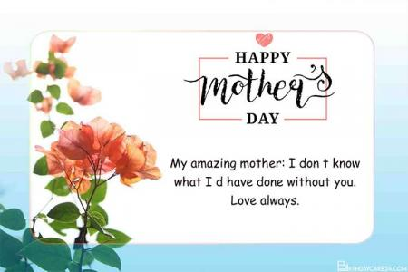 Free Mother's Day Greeting Cards Maker Online