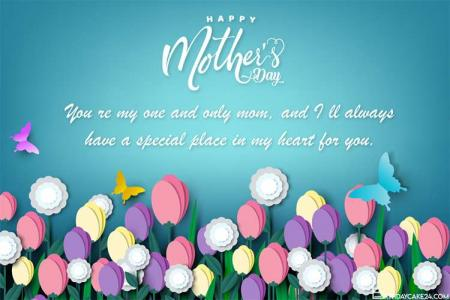 Free Happy Mother's Day Card With Lovely Flowers