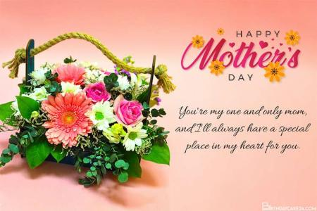 Fresh Flower Mother's Day Card Free Download