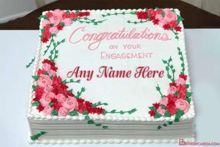Congratulations Wedding Cake With Name Online