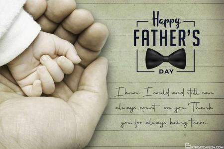 Happy Father's Day With Your Own Beautiful Greeting Card