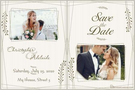 Design Vintage Style Wedding Cards With Your Photos