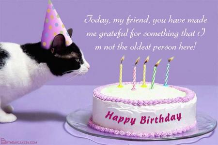 Funny Cat Birthday Card Online Free