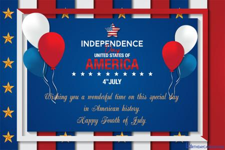 Make Fourth of July American Independence Day eCards