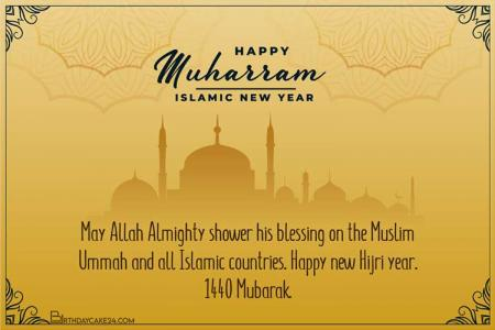 Happy Muharram Muslim Festival Islamic Greeting Cards
