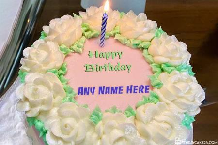My Birthday Cake Candles With Name Online