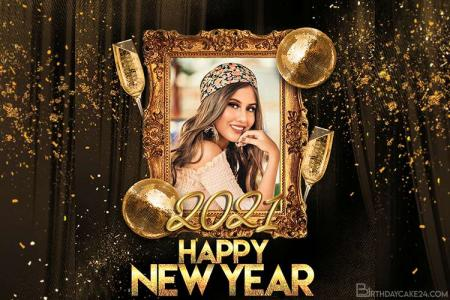 Happy New Year Photo Frame Online Editing 2021