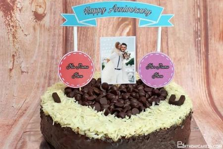 Chocolate Wedding Anniversary Cake Images With Name
