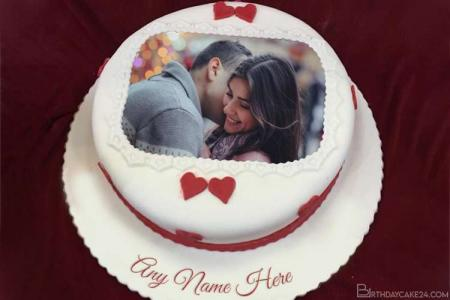 Customize Birthday Cake With Name And Photo For Your Lover