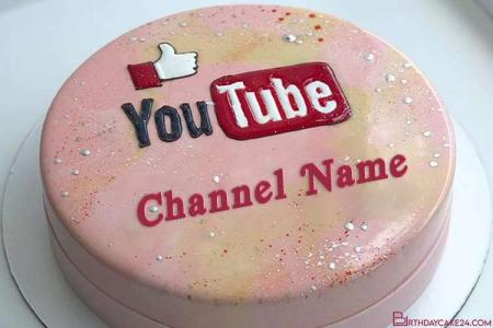 Like Youtube Logo Cake With Your Name
