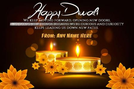 Free Download Happy Diwali Card With Name Edit