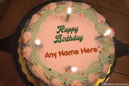 Write Name on Lovely Candles Birthday Cake Online