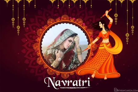 Make Navratri Photo Frames Online in India