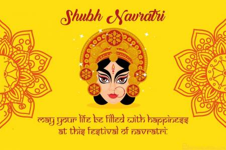 Free Shubh Navratri Greeting Cards Maker Online