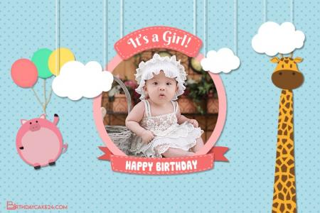 Happy Birthday Video Card For Girl With Photo Edit