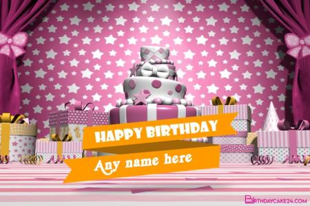 Happy Birthday Video Card With Name Edit