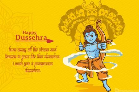 Customizable Design Templates For Dussehra Card