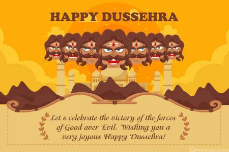 Make Dussehra Greeting Cards With Names And Wishes