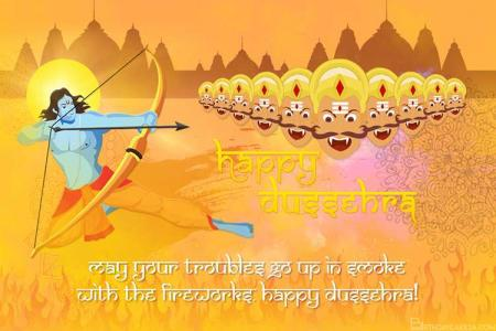 Happy Dussehra/ Vijayadashmi Card Images