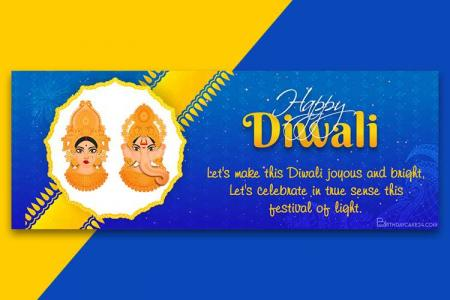 Create Happy Diwali Facebook Cover With Name Wishes