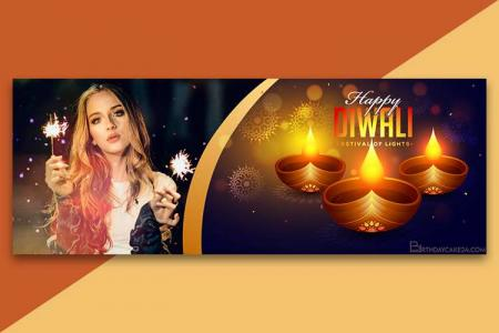 Happy Diwali Facebook Cover Photo Frames