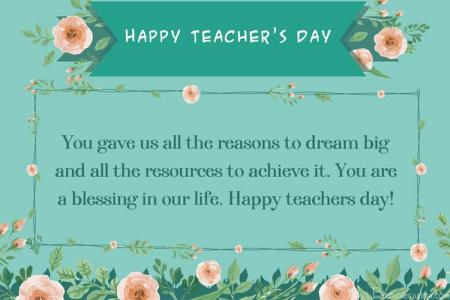 Maker Flowers Happy Teacher's Day Greeting Card Images