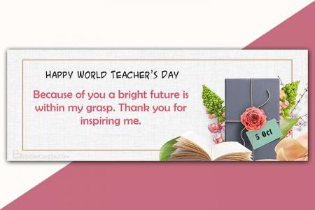 Happy Teachers Day Timeline Facebook Cover Photo Maker